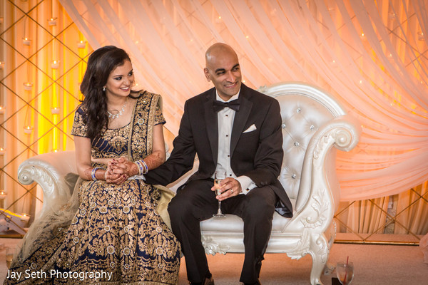 bride and groom portrait,indian wedding day portrait,bride and groom reception portrait