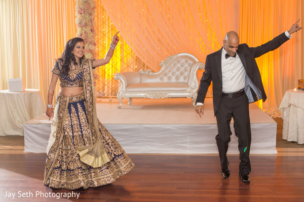 Bride and Groom Entrance in Woodbury, NY Indian Wedding by Jay Seth Photography