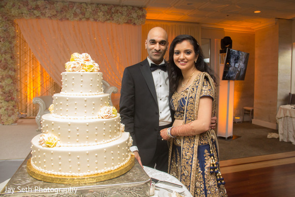 Cake Cutting in Woodbury, NY Indian Wedding by Jay Seth Photography
