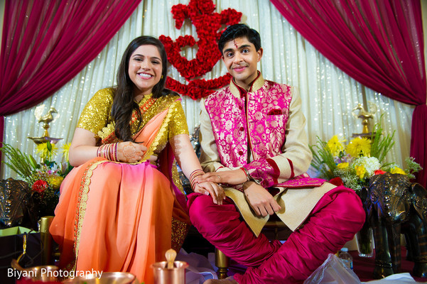 bride and groom portrait,indian wedding day portrait,ceremony venue,wedding ceremony venue,indian wedding venue