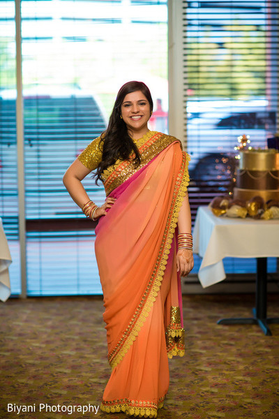 Indian Bridal Portrait in Houston, TX South Asian Indian Wedding Engagement by Biyani Photography