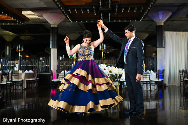 Indian Bride and Groom Reception Portrait in Houston, TX South Asian Indian Wedding Engagement by Biyani Photography