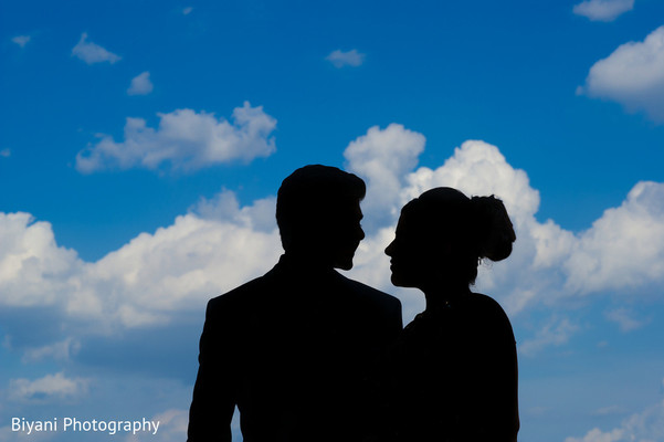Indian Bride and Groom Portrait in Houston, TX South Asian Indian Wedding Engagement by Biyani Photography