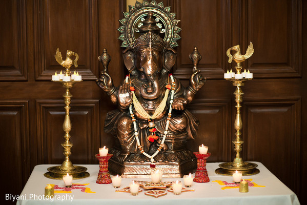 Ganesh Decor in Houston, TX South Asian Indian Wedding Engagement by Biyani Photography