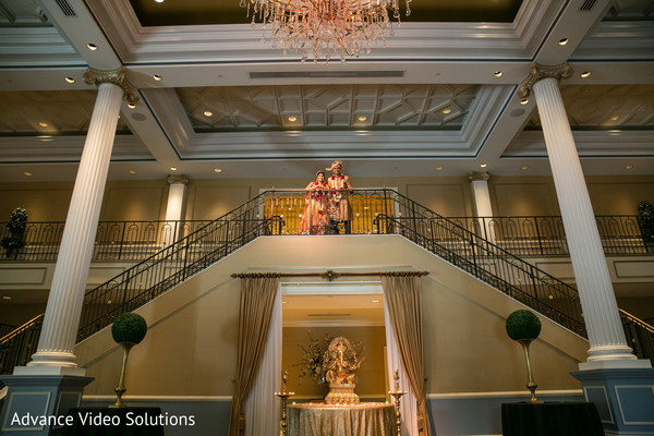 Elephant Decor in Ballroom Venue in Somerset, New Jersey Indian Wedding by Advance Video Solutions