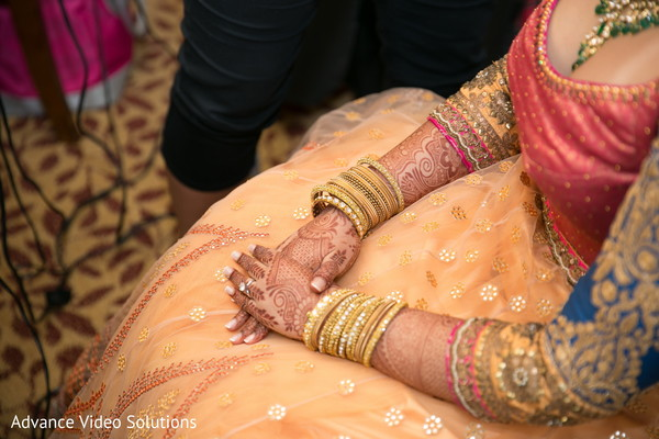 Lengha Choli for Bride in Somerset, New Jersey Indian Wedding by Advance Video Solutions