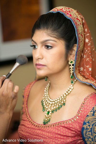Bride Getting Ready in Somerset, New Jersey Indian Wedding by Advance Video Solutions