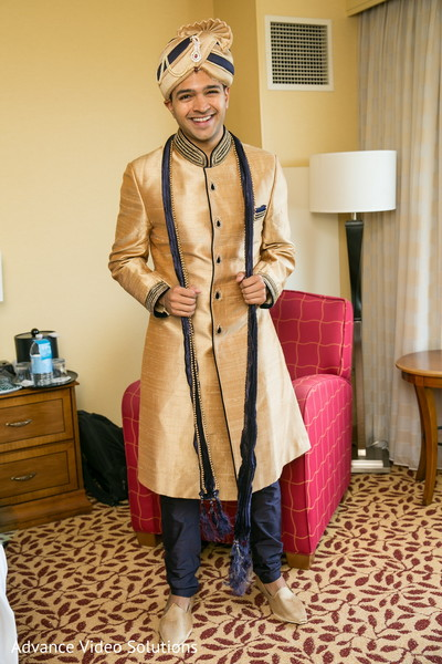 Groom Getting Ready in Somerset, New Jersey Indian Wedding by Advance Video Solutions