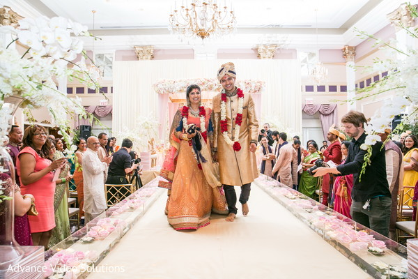 Bride and Groom Wedding Portrait in Somerset, New Jersey Indian Wedding by Advance Video Solutions