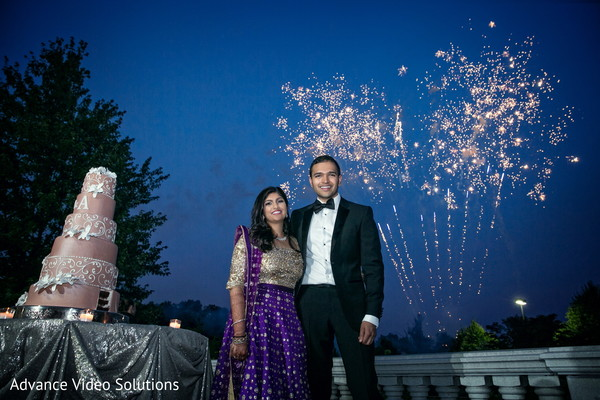 Bride and Groom Outdoor Photography in Somerset, New Jersey Indian Wedding by Advance Video Solutions