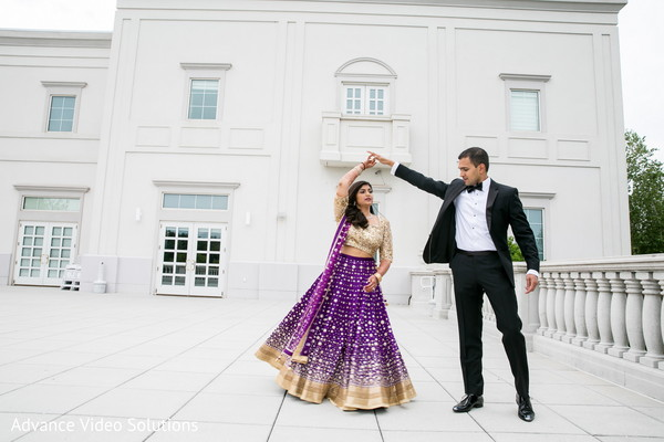Bride and Groom Outdoor Wedding Photography in Somerset, New Jersey Indian Wedding by Advance Video Solutions