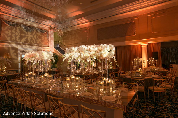 Reception Decor in Somerset, New Jersey Indian Wedding by Advance Video Solutions