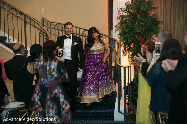Bride and Groom Reception Portrait in Somerset, New Jersey Indian Wedding by Advance Video Solutions
