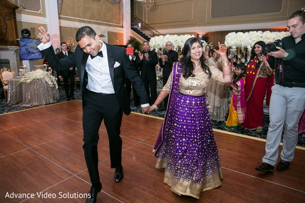 Bride and Groom Introduction in Somerset, New Jersey Indian Wedding by Advance Video Solutions