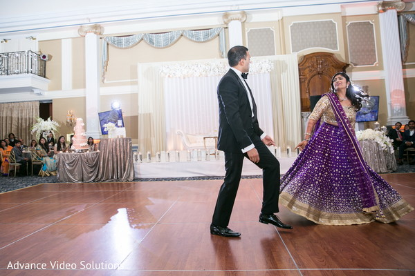 Indian Bride and Groom Reception Performance in Somerset, New Jersey Indian Wedding by Advance Video Solutions