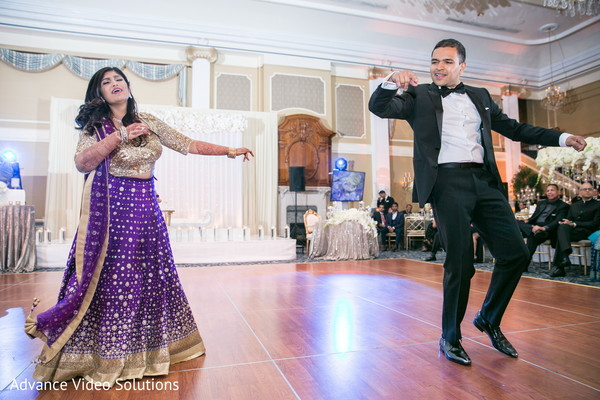 indian bride and groom reception performance,indian bride and groom reception portrait