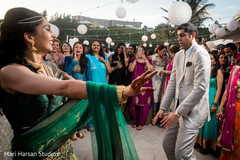 beach party,pool party,pre wedding celebration,indian bride and groom