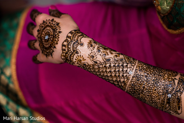 Beautiful bridal mehndi design. in Southhampton, Bermuda Indian Wedding by Mari Harsan Studios
