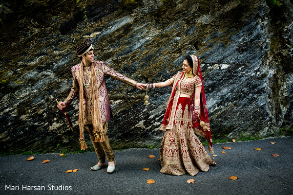 Cute indian bride and groom photography. in Southhampton, Bermuda Indian Wedding by Mari Harsan Studios