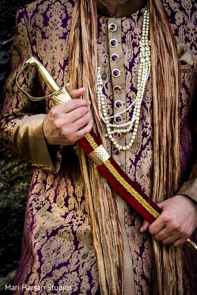 Maharaja wedding outfit. in Southhampton, Bermuda Indian Wedding by Mari Harsan Studios