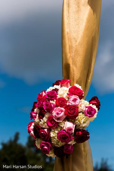 Beautiful floral mandap decoration. in Southhampton, Bermuda Indian Wedding by Mari Harsan Studios