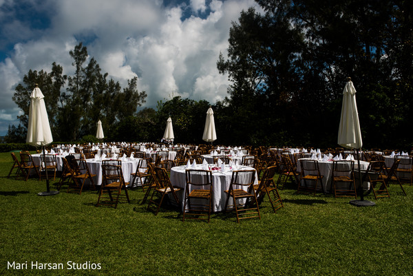 Outdoor indian wedding reception venue. in Southhampton, Bermuda Indian Wedding by Mari Harsan Studios
