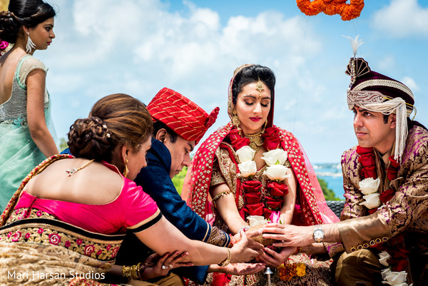 Indian wedding ceremony in Southhampton, Bermuda Indian Wedding by Mari Harsan Studios
