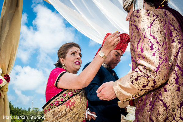 Indian wedding ceremony traditions. in Southhampton, Bermuda Indian Wedding by Mari Harsan Studios