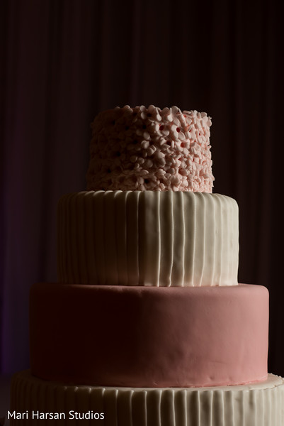 Elegant wedding cake design. in Southhampton, Bermuda Indian Wedding by Mari Harsan Studios