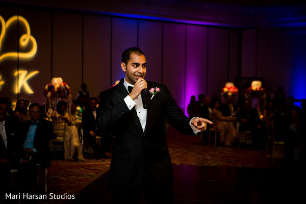 Wedding reception speech time. in Southhampton, Bermuda Indian Wedding by Mari Harsan Studios