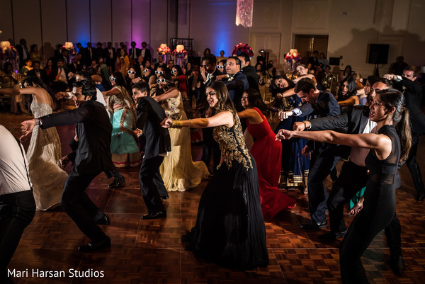 Indian wedding reception. in Southhampton, Bermuda Indian Wedding by Mari Harsan Studios