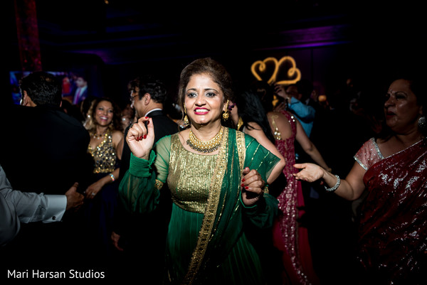 Indian wedding reception guests. in Southhampton, Bermuda Indian Wedding by Mari Harsan Studios