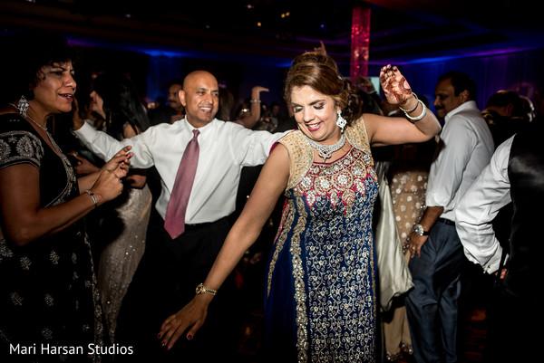 Indian wedding reception party. in Southhampton, Bermuda Indian Wedding by Mari Harsan Studios