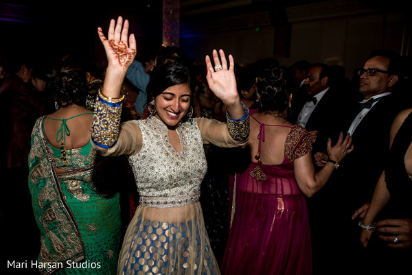 Indian wedding reception. in Southhampton, Bermuda Indian Wedding by Mari Harsan Studios