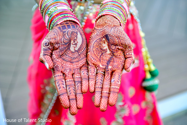 Lovely traditional bridal mehndi desingn. in Edison, NJ Indian Wedding by House of Talent Studio