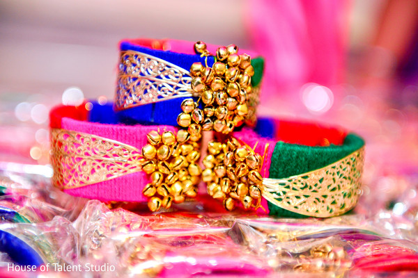 Cute colorful garba favors. in Edison, NJ Indian Wedding by House of Talent Studio