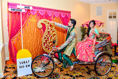 rickshaw,garba,garba celebration,indian bride and groom,pre-wedding celebration