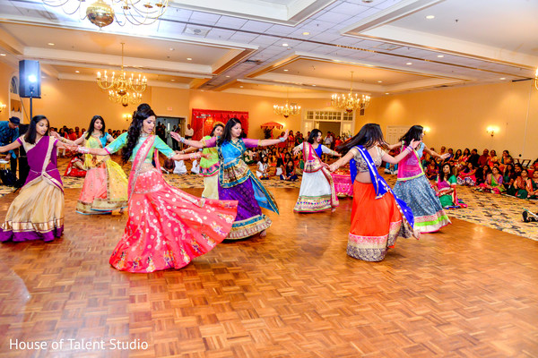 Traditional garba night celebration. in Edison, NJ Indian Wedding by House of Talent Studio