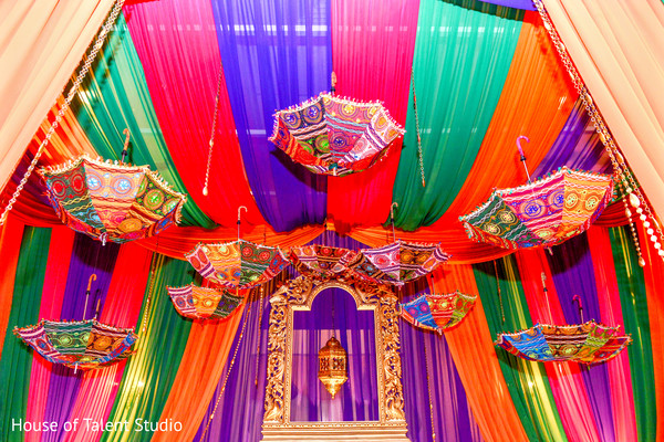 umbrella decoration,indian wedding,garba stage