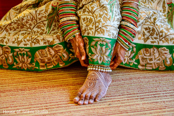 Indian bride getting ready. in Edison, NJ Indian Wedding by House of Talent Studio