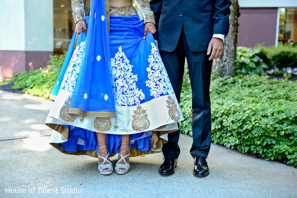 Portrait of indian bride and groom. in Edison, NJ Indian Wedding by House of Talent Studio