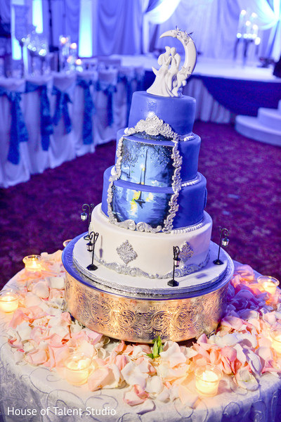 Original night themed wedding cake. in Edison, NJ Indian Wedding by House of Talent Studio