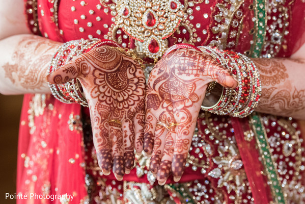 Beautiful mehndi designs in Detroit, Michigan Fusion Wedding by Pointe Photography