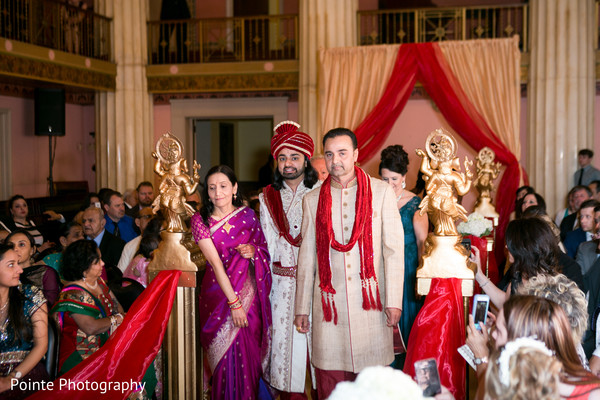 Indian groom making his entrance to wedding ceremony in Detroit, Michigan Fusion Wedding by Pointe Photography