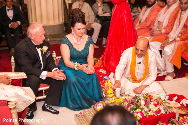 Lovely Indian wedding ceremony in Detroit, Michigan Fusion Wedding by Pointe Photography