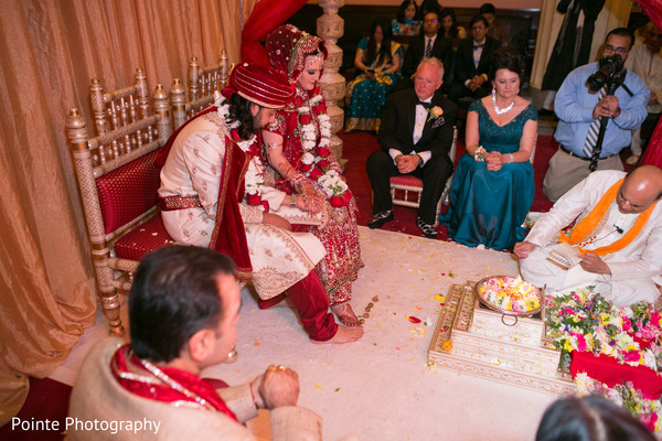 Beautiful Indian wedding ceremony in Detroit, Michigan Fusion Wedding by Pointe Photography