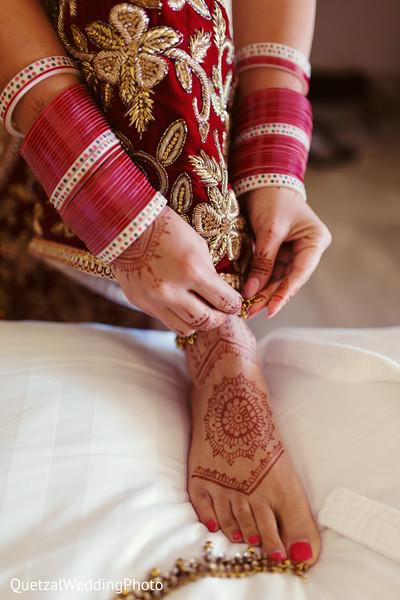 Bridal Mehndi in Barcelo Riviera Maya Sikh Wedding by QuetzalPhoto