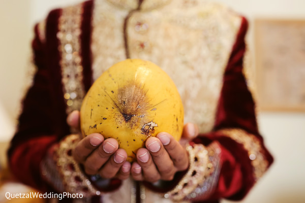 Indian Groom Portrait in Barcelo Riviera Maya Sikh Wedding by QuetzalPhoto