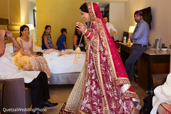 Indian Bride and Getting Ready in Barcelo Riviera Maya Sikh Wedding by QuetzalPhoto