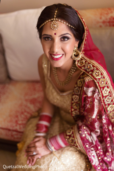 Indian Bridal Portrait in Barcelo Riviera Maya Sikh Wedding by QuetzalPhoto